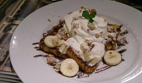 J.S.BURGERS CAFEのチョコバナナフレンチトースト