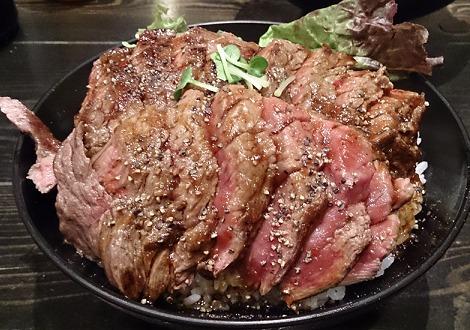 レッドロック原宿店のステーキ丼