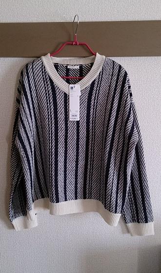 GUのストライプセーター