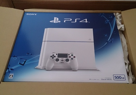 PS4本体グレイシャー・ホワイト