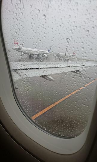 飛行機から見た外の景色