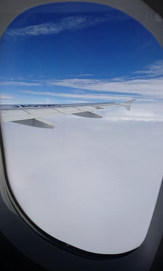 雲の上から撮った写真
