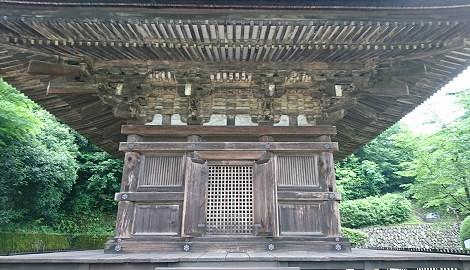 瑠璃光寺の五重塔のさらにアップ