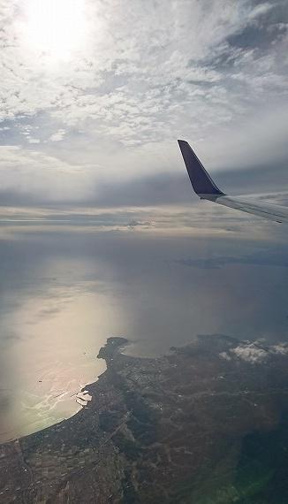 帰りの飛行機からの景色