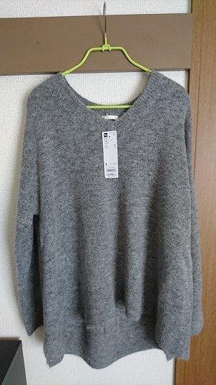 GUのAラインボリュームセーター