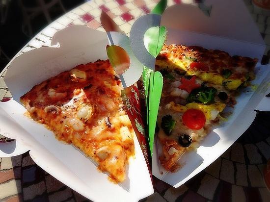 ディズニーランドのピザ