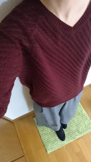 GUのVネックボリュームセーター