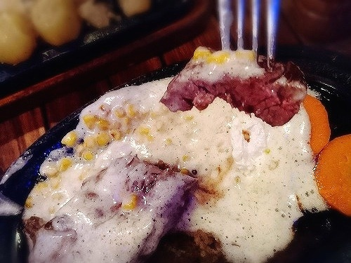 品川区のステーキハウスB&Mのガーリックバターステーキ