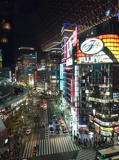 東急プラザ銀座店から見た夜景