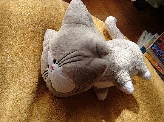 猫のぽんたのアルフレッドのぬいぐるみ