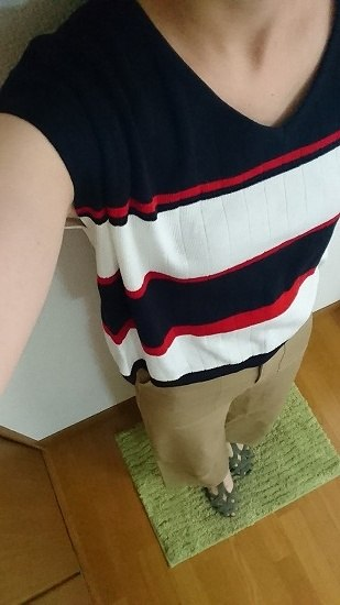 【しまむら HK】配色フレンチプルオーバー