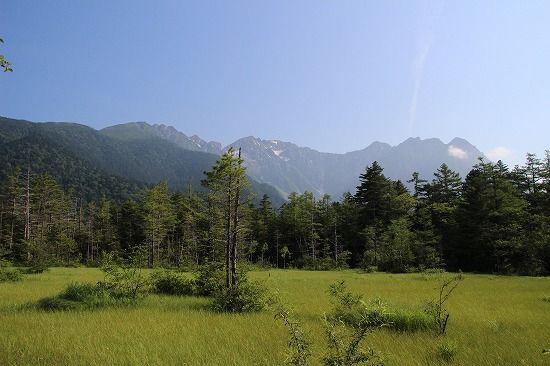 上高地 田代池と湿原