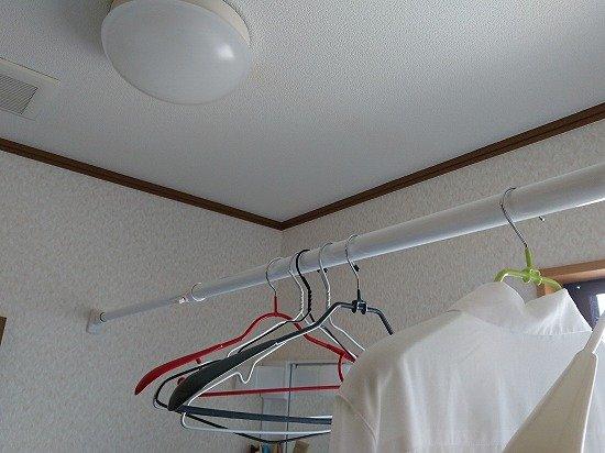 1人暮らし 室内干し用 つっぱり棒