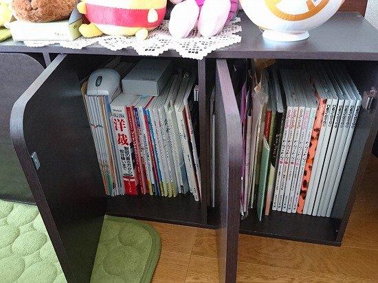 ニトリのCD&DVD収納棚を漫画用の棚に使用