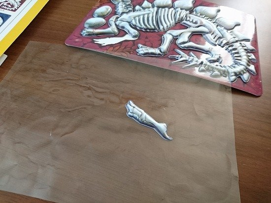 100円ショップのパズル 恐竜の化石