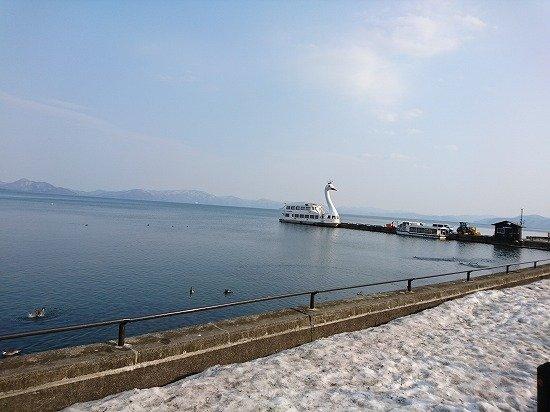 猪苗代湖 スワンの遊覧船